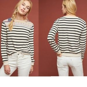 Anthropologie Finn Striped Pullover Top new